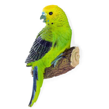 Extra image of 4 Wall Mountable Coloured Tropical Parrot & Parakeet Bird Ornaments