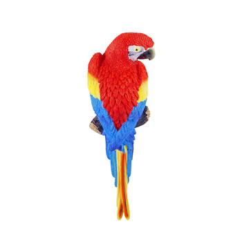 Image of Tango the Wall Mountable 30cm Scarlet Macaw Parrot Garden Ornament