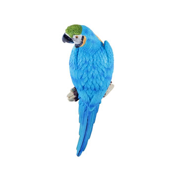 Image of Rio the Wall Mountable 30cm Blue & Yellow Macaw Parrot Ornament