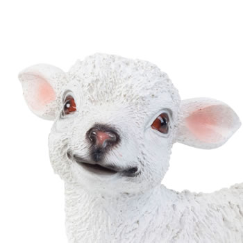 Extra image of Realistic 23cm Standing White Lamb Sheep Animal Garden Ornament