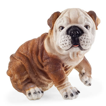 Image of Princess the Realistic Sitting Bulldog Garden Ornament Figurine