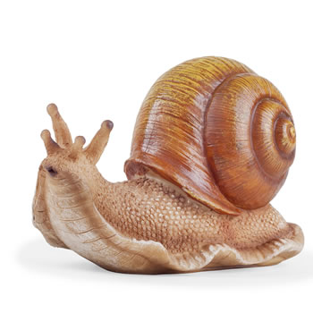 Image of The Hosta Loving Large Realistic Snail Garden Ornament