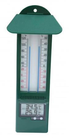 Image of Digital Max/Min thermometer green