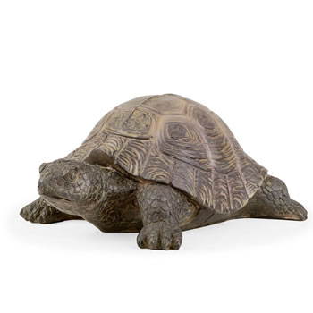Image of Einstein the Realistic Resin Tortoise Garden Ornament