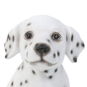 Extra image of Realistic 16cm Sitting Dalmatian Puppy Dog Statue Ornament