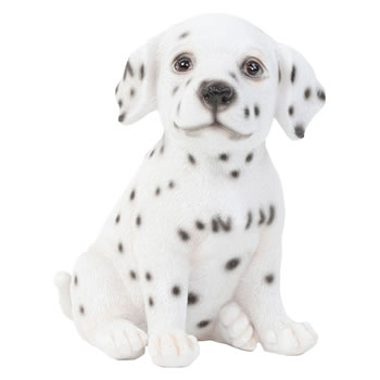 Image of Realistic 16cm Sitting Dalmatian Puppy Dog Statue Ornament