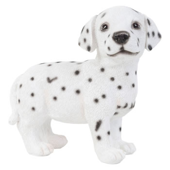Image of Realistic 16cm Standing Dalmatian Puppy Dog Statue Ornament