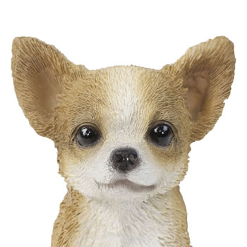 Extra image of Realistic 15cm Sitting Chihuahua Puppy Dog Statue Ornament