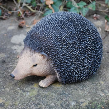 Image of Small Lifelike Resin Hedgehog Ornament For The Garden