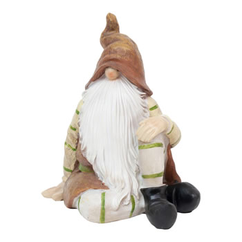 Image of Brown Sitting Woodland Garden Gnome Ornaments