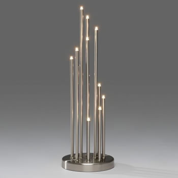 Image of Konstsmide Metal Brushed Metal 12 Candlesticks (3535-900TE)