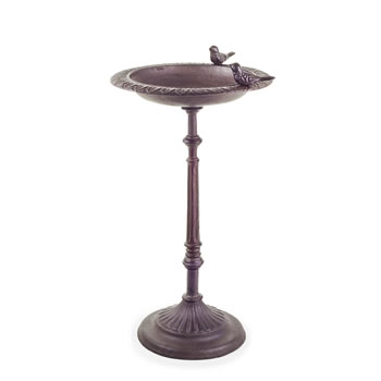 Image of 'Stratton' Cast Iron Free-Standing Garden Bird Bath or Feeder Table