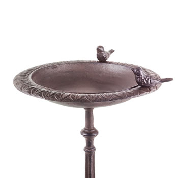 Extra image of 'Stratton' Cast Iron Free-Standing Garden Bird Bath or Feeder Table