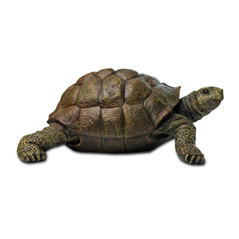 Image of Large Realistic Resin Tortoise Garden Ornament
