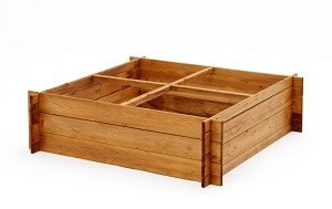 Image of 4 Section Extra tall (30cm) Wooden Raised Garden Bed for flowers and vegetables