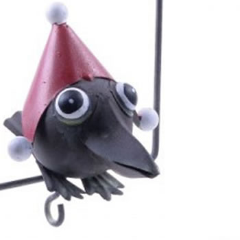 Extra image of Hanging Metal Christmas Fat Ball Holder Bird Feeder