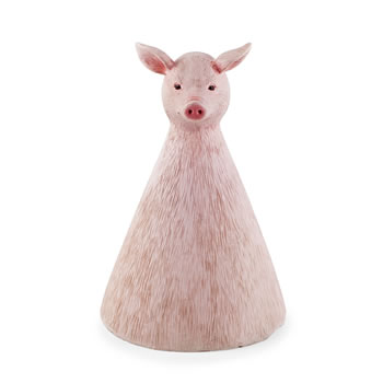 Image of Olive the Pig Fence Sitter Garden Ornament