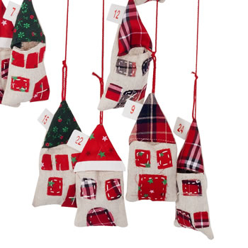 Extra image of Hanging House Mobile Christmas Advent Calendar