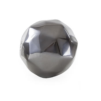 Image of Geometric Aluminium 10cm Sphere Garden Ornament