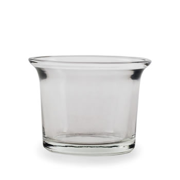 Image of Six Clear Glass Replacement Tea Light Holders