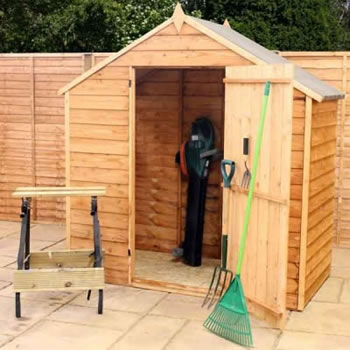 Image of 4 x 6 Windowless Overlap Apex Garden Shed