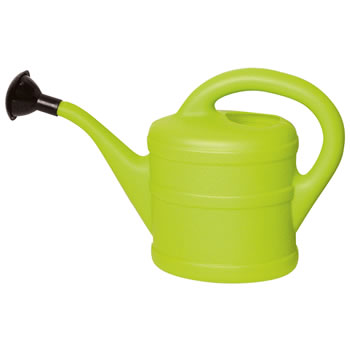 Image of Small 1L Children's Lime Green Plastic Garden Watering Can with Rose
