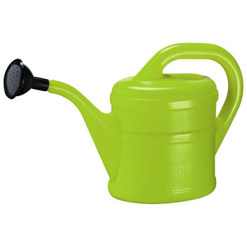 Image of 2L Children's Lime Green Plastic Garden Watering Can with Rose