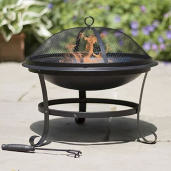 Image of La Hacienda Albion Steel Fire Bowl - Black