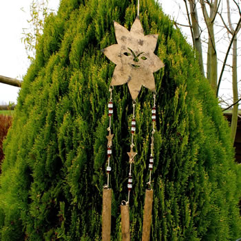 Extra image of Hanging Metal Bell Garden Windchime with Sun Face