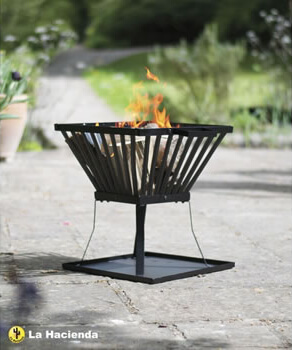 Image of La Hacienda Morden Black Steel Firebasket
