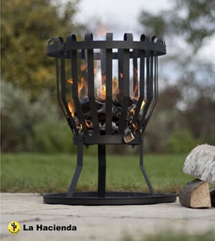 Image of La Hacienda Alberta Black Steel Firebasket