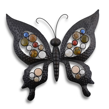 Image of Metal Butterfly Garden Wall Art Feature Ornament for Garden or Home