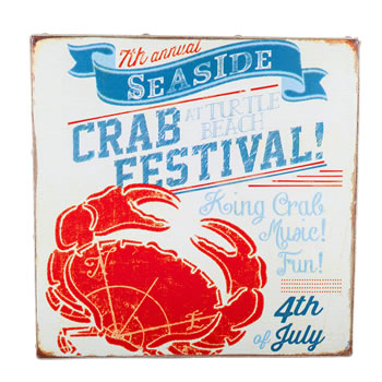 Image of San Fran' Nautical 'Crab Festival' Canvas Print Wall Art for the Home