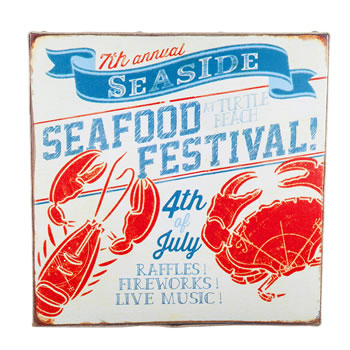 Image of 'San Fran' Nautical 'Seafood Festival' Canvas Print Wall Art for the Home