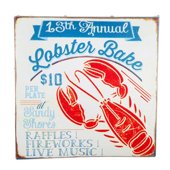 Image of San Fran' Nautical 'Lobster Bake' Canvas Print Wall Art for the Home