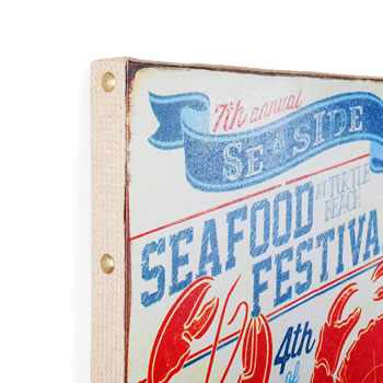 Extra image of San Fran' Nautical 'Lobster Bake' Canvas Print Wall Art for the Home