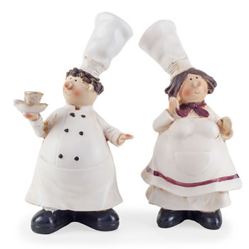 Image of Lucy & Leonard the Fat Chef Home Kitchen Ornaments