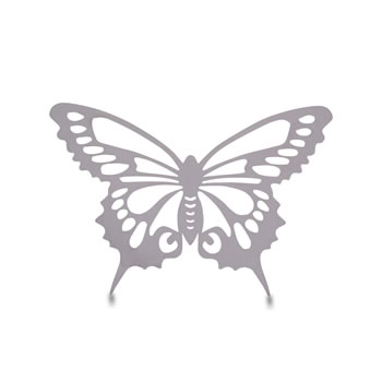 Image of Small Reflective Finish Steel Butterfly Wall Art