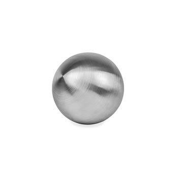 Image of Brushed Finish Stainless Steel 13cm Garden Sphere Ornament