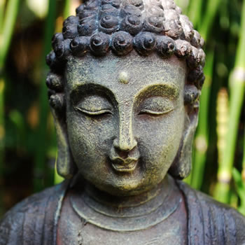 Extra image of Stone Look Resin Buddha Figure Garden Ornament