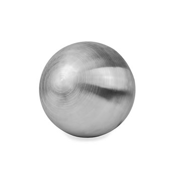 Image of Brushed Finish Stainless Steel 18cm Garden Sphere Ornament