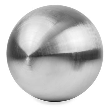 Image of Brushed Finish Stainless Steel 27cm Garden Sphere Ornament