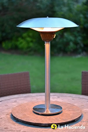 Image of La Hacienda Tabletop 2100w Halogen Patio Heater