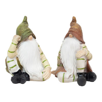 Image of Aspen & Juniper the Sitting Woodland Garden Gnome Ornaments