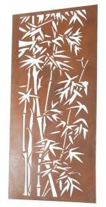 Image of Wonderful Rustic Steel Garden Metal Bamboo design Screen 1.8m tall - ideal for a screen fence or wall mounting and climbing plants!