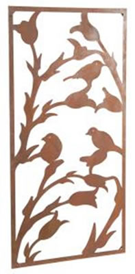 Image of Wonderful Rustic Steel Garden Metal Bird Screen 1.8m tall ideal screen fence