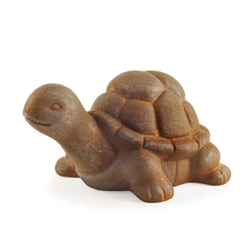 Image of Rigby the Rusty Look Terracotta Tortoise Garden Ornament