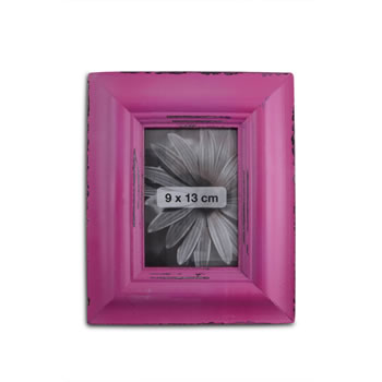 Image of Antique Pink Finish Wooden Photoframe for 5 x 3.5in Photo