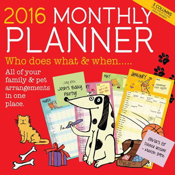 Image of 2016 Monthly Planner
