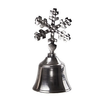 Image of Metal Hand Bell with Snowflake Design Handle Christmas Accessory